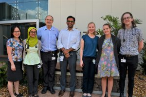 Dr Lucy Marks (3rd from right) with Royal Darwin Hospital Infectious Diseases team