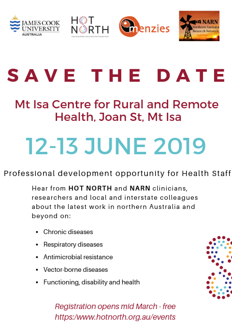 HOT NORTH Save the Date Mount Isa with link