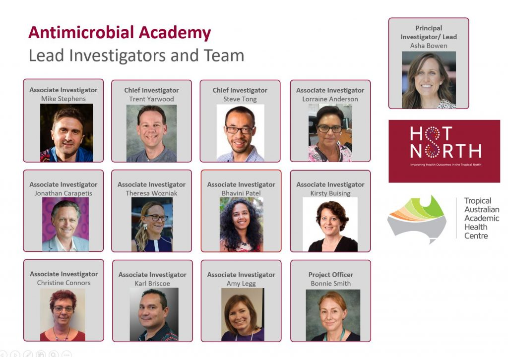Antimicrobial Academy Lead Investigators and Academy Team